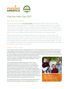 Map the Meal Gap 2017, Executive Summary