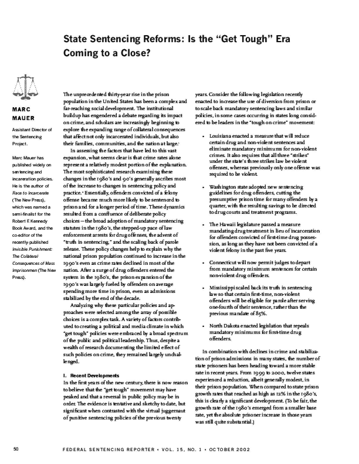Changing Direction? State Sentencing Reforms 2004-2006