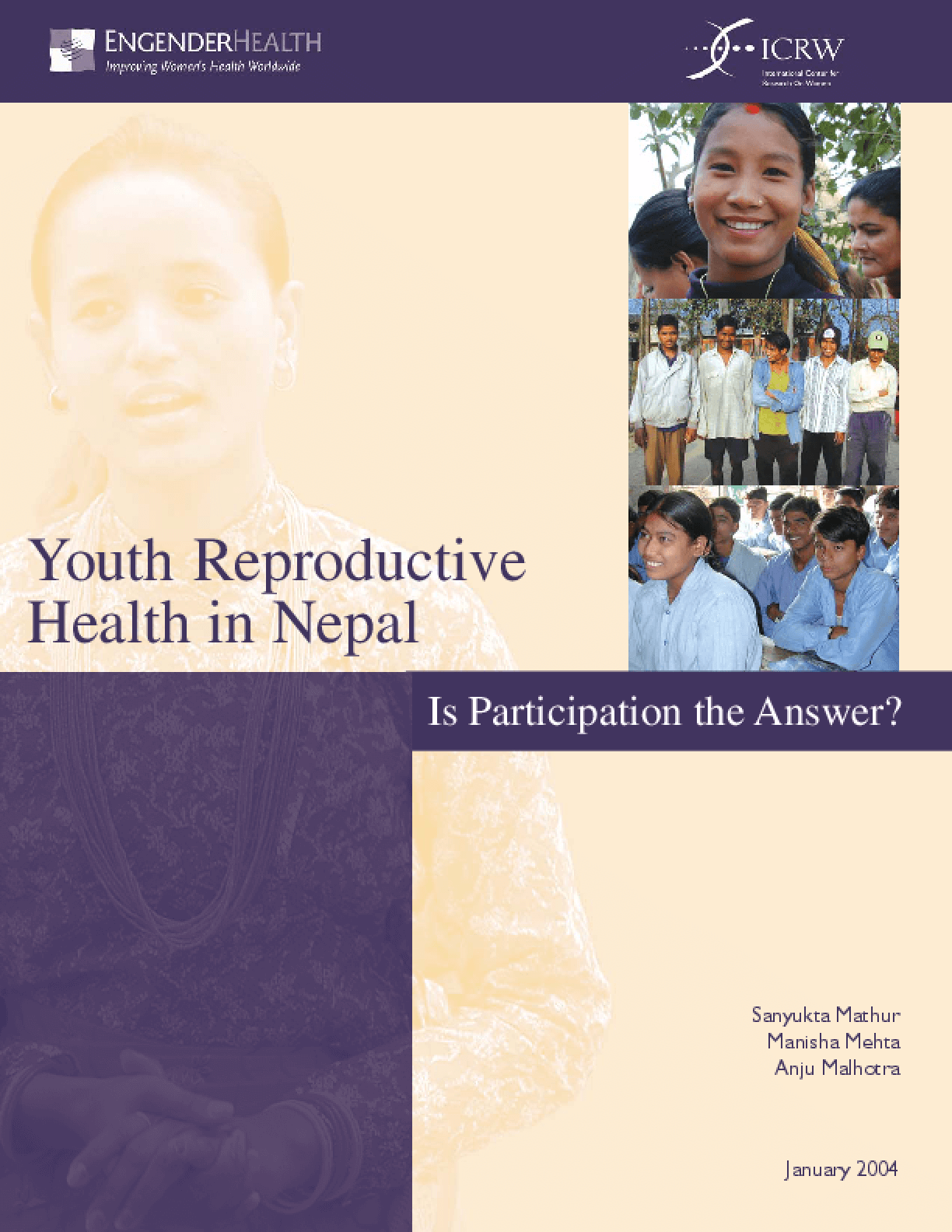 Youth Reproductive Health in Nepal: Is Participation the Answer?