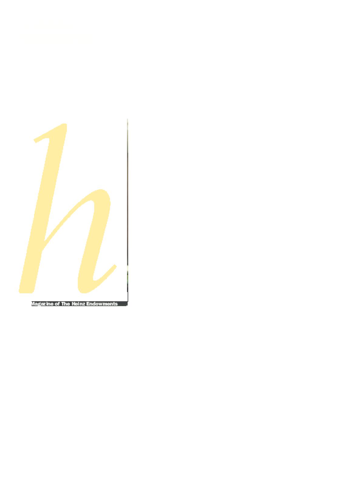 Heinz Endowments 2007 Annual Report
