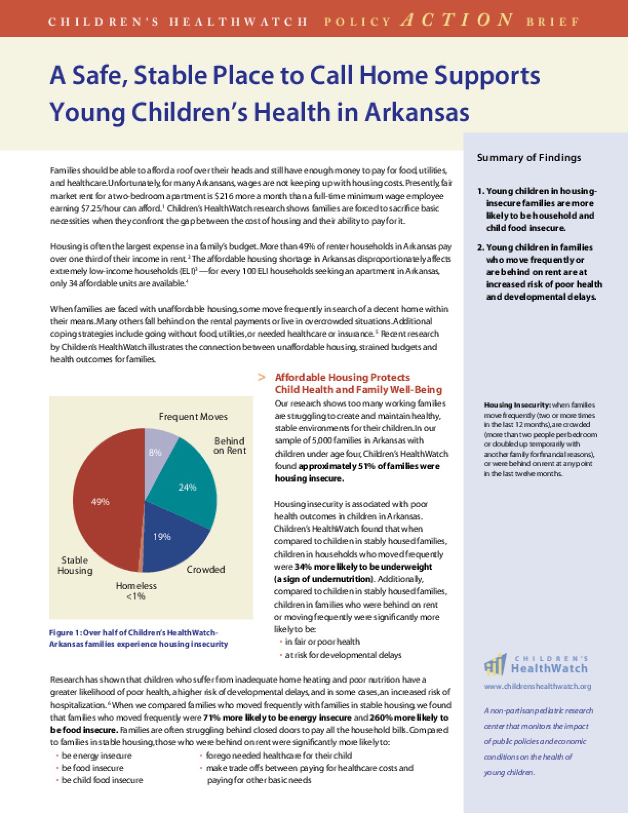 A Safe, Stable Place to Call Home Supports Young Children's Health in Arkansas
