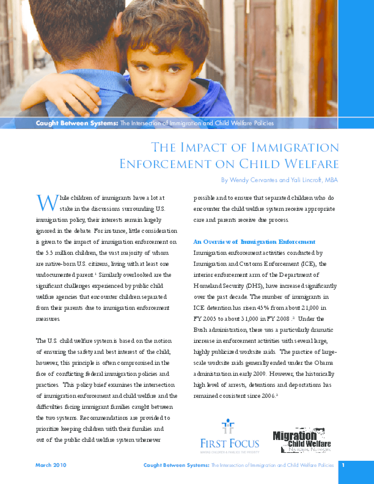 The Impact of Immigration Enforcement on Child Welfare