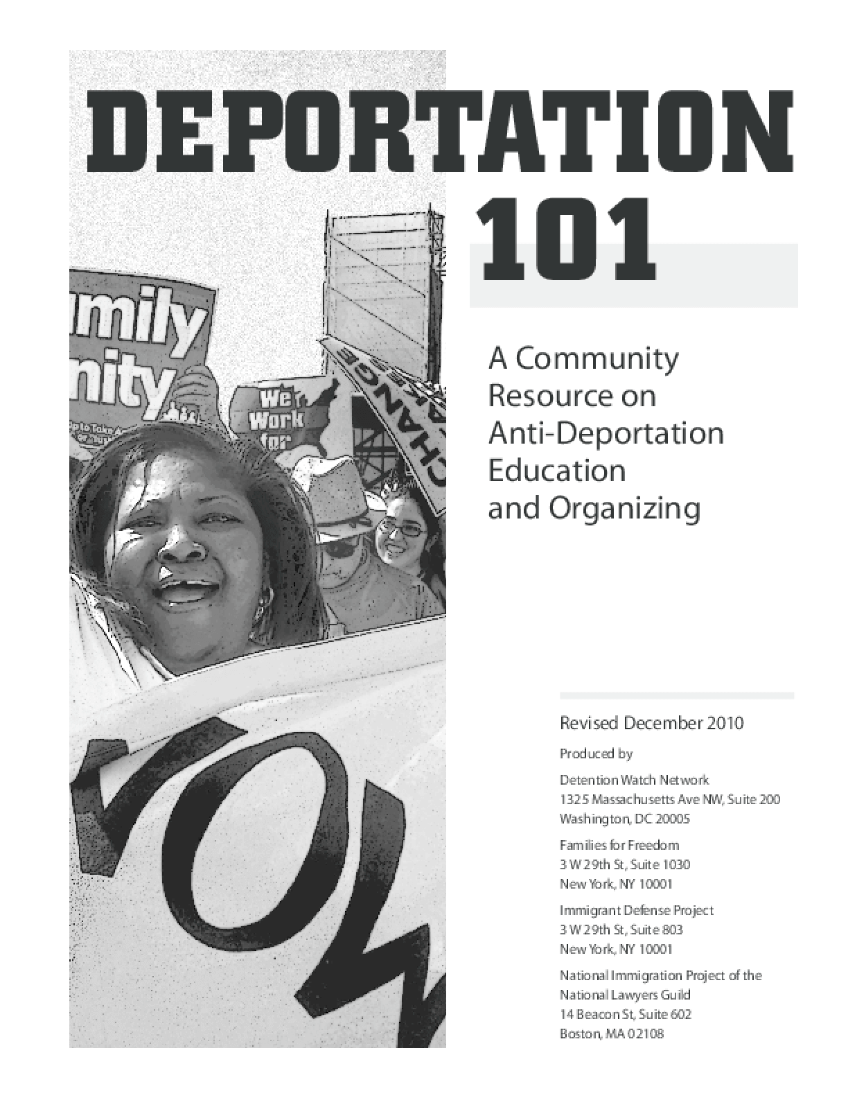 Deportation 101: A Community Resource on Anti-Deportation Education and Organizing