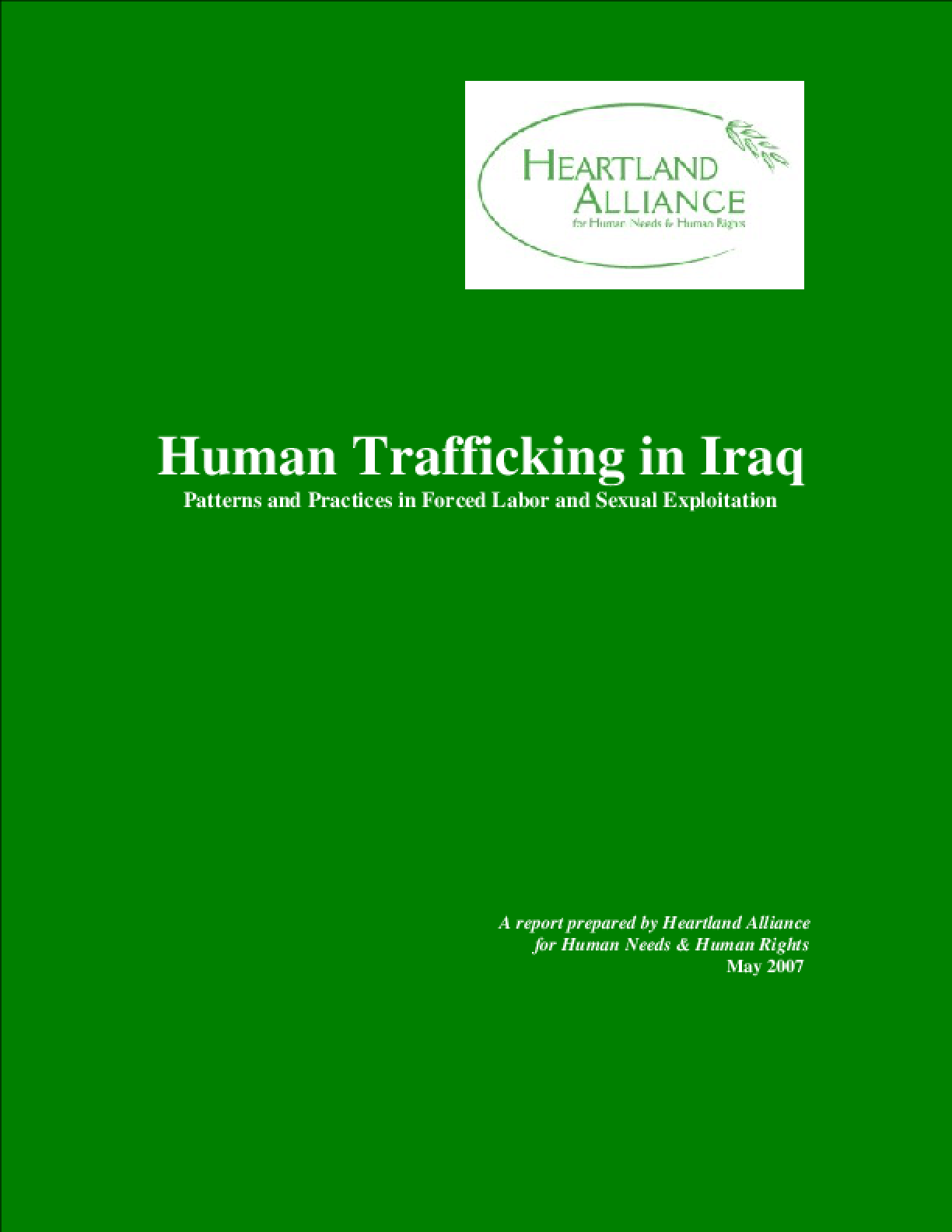 Human Trafficking in Iraq: Patterns and Practices in Forced Labor and Sexual Exploitation