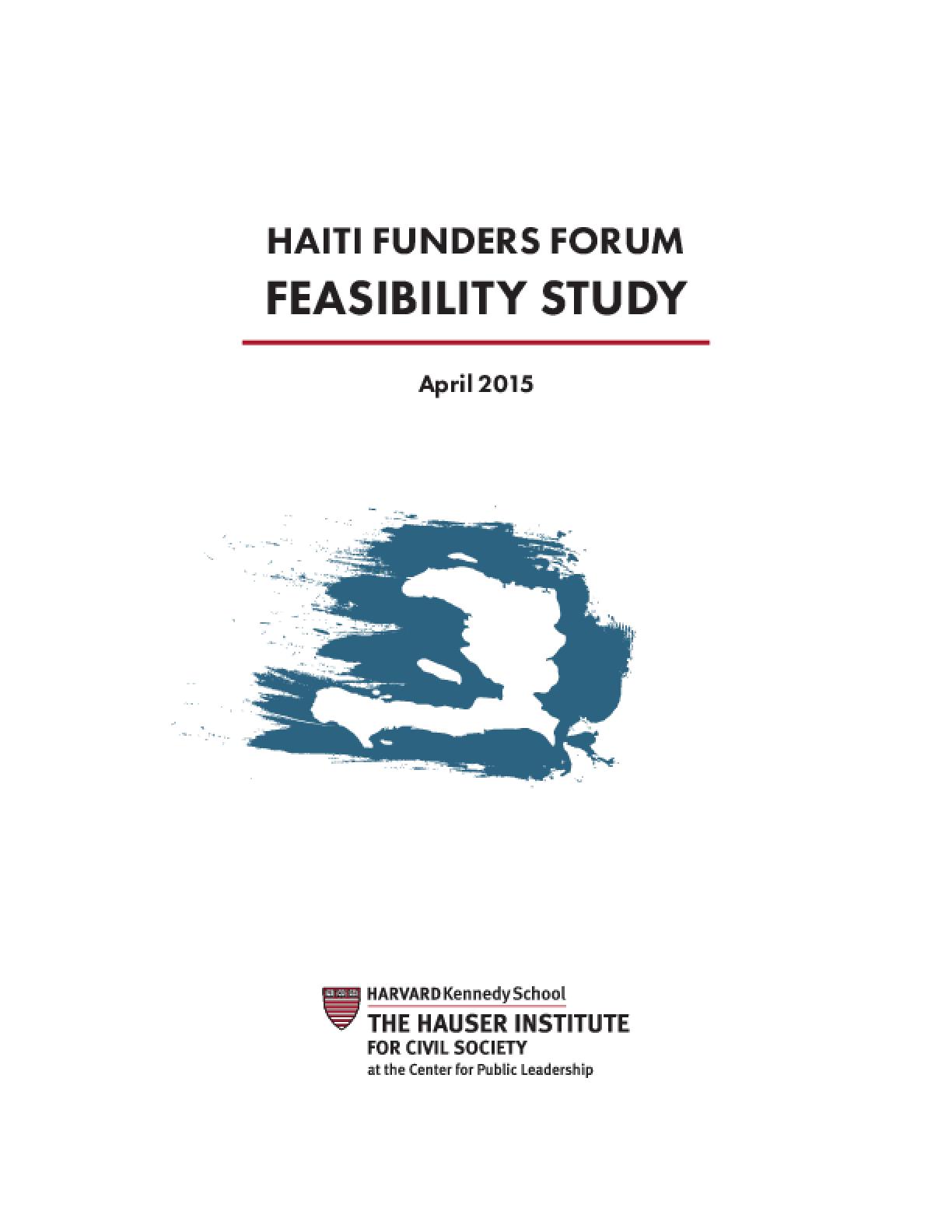 Haiti Funders Forum: Feasibility Study