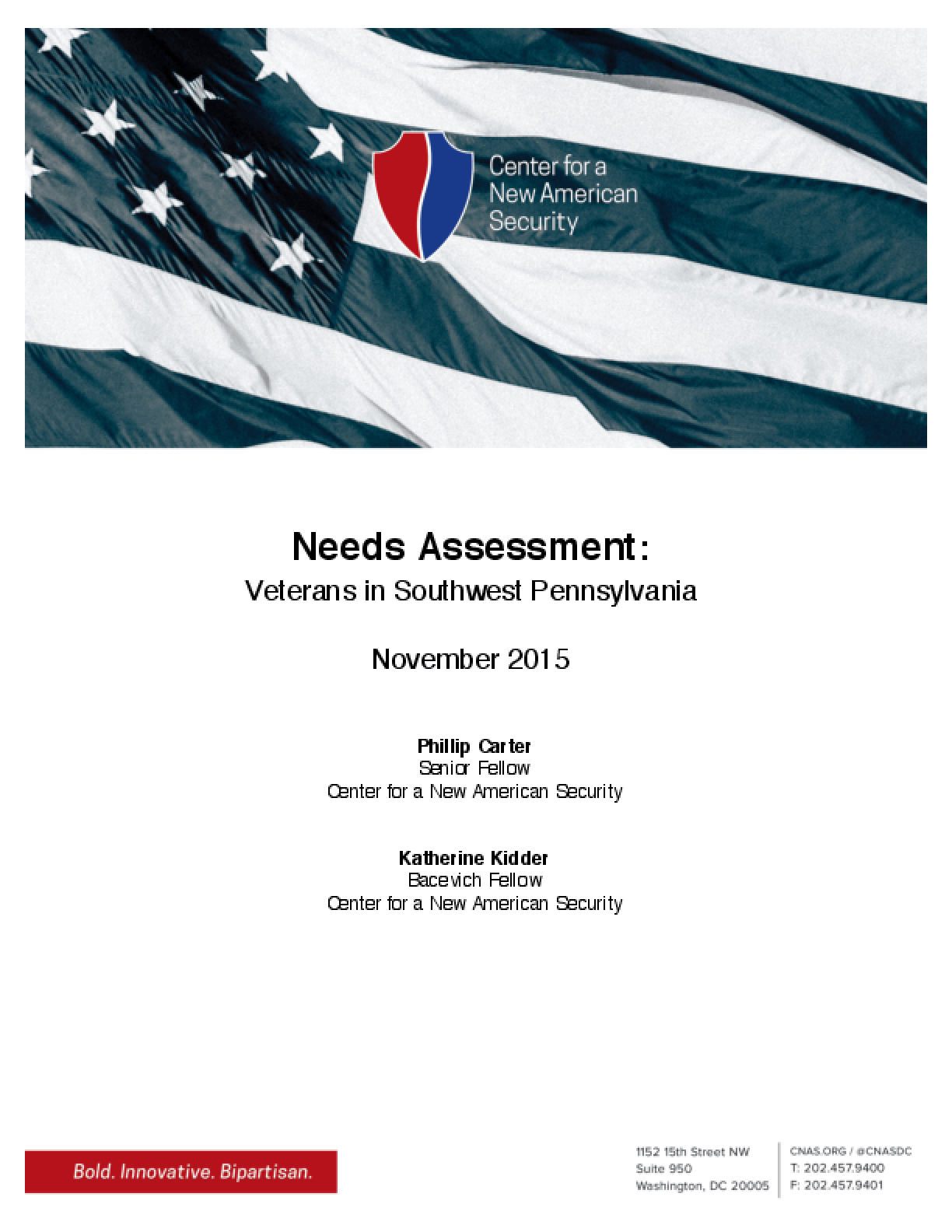 Needs Assessment: Veterans in Southwest Pennsylvania