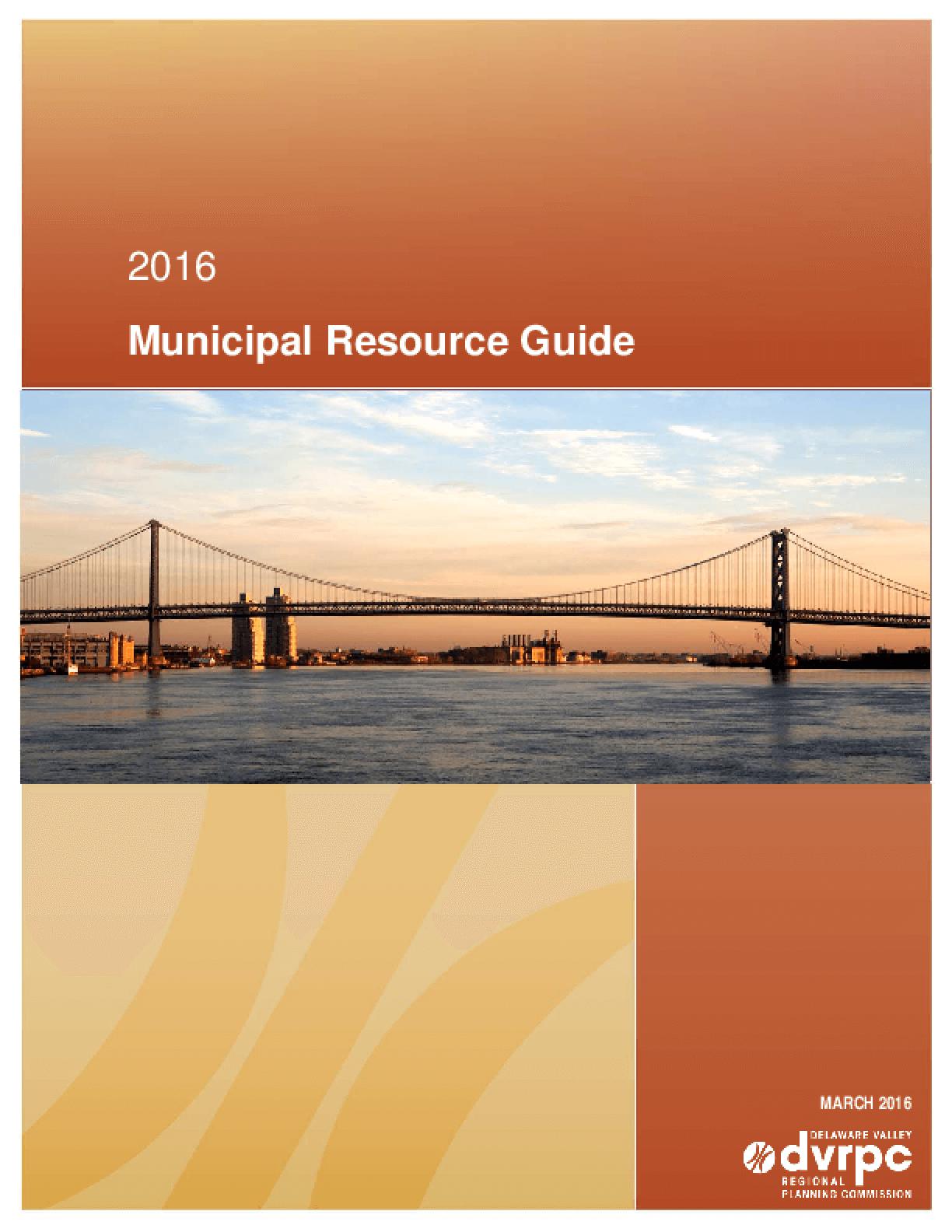 2016 Municipal Resource Guide