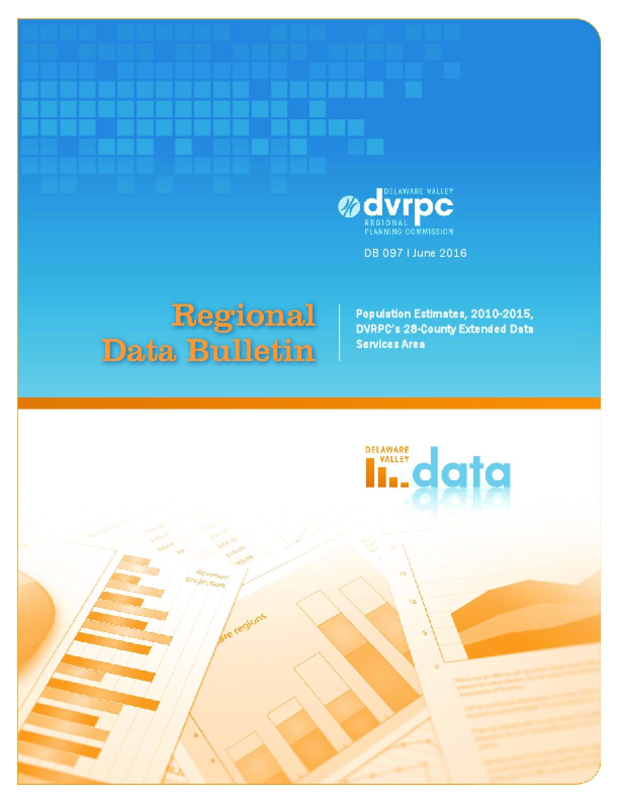 Population Estimates, 2010-2015, DVRPC's 28-County Extended Data Services Area