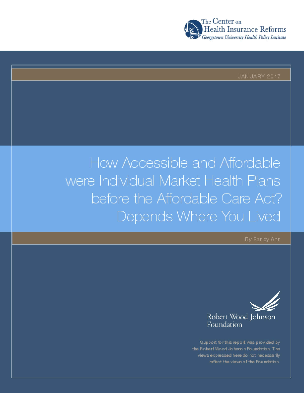 How Accessible and Affordable Were Individual Market Health Plans Before the Affordable Care Act? Depends Where You Lived