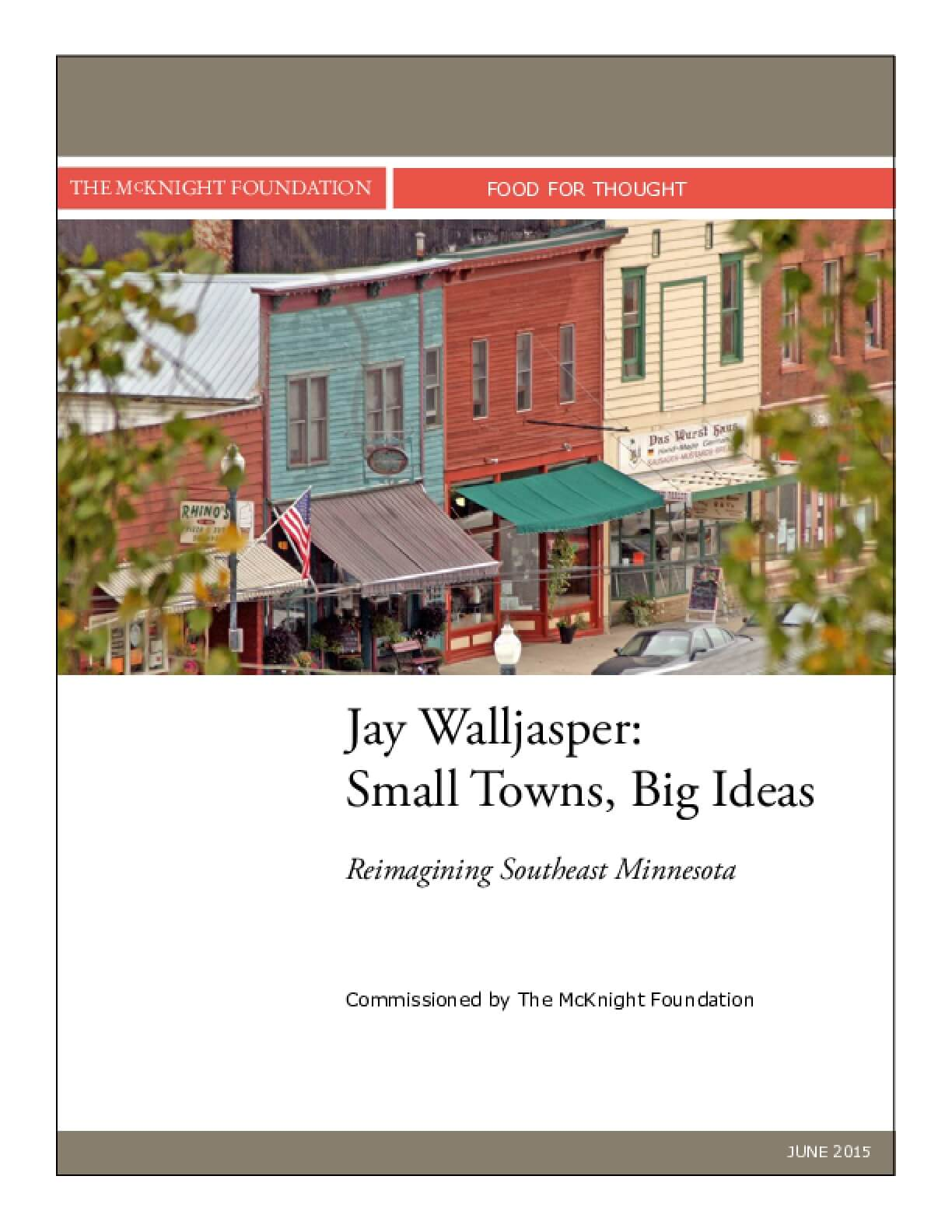 Food for Thought: Small Towns, Big Ideas