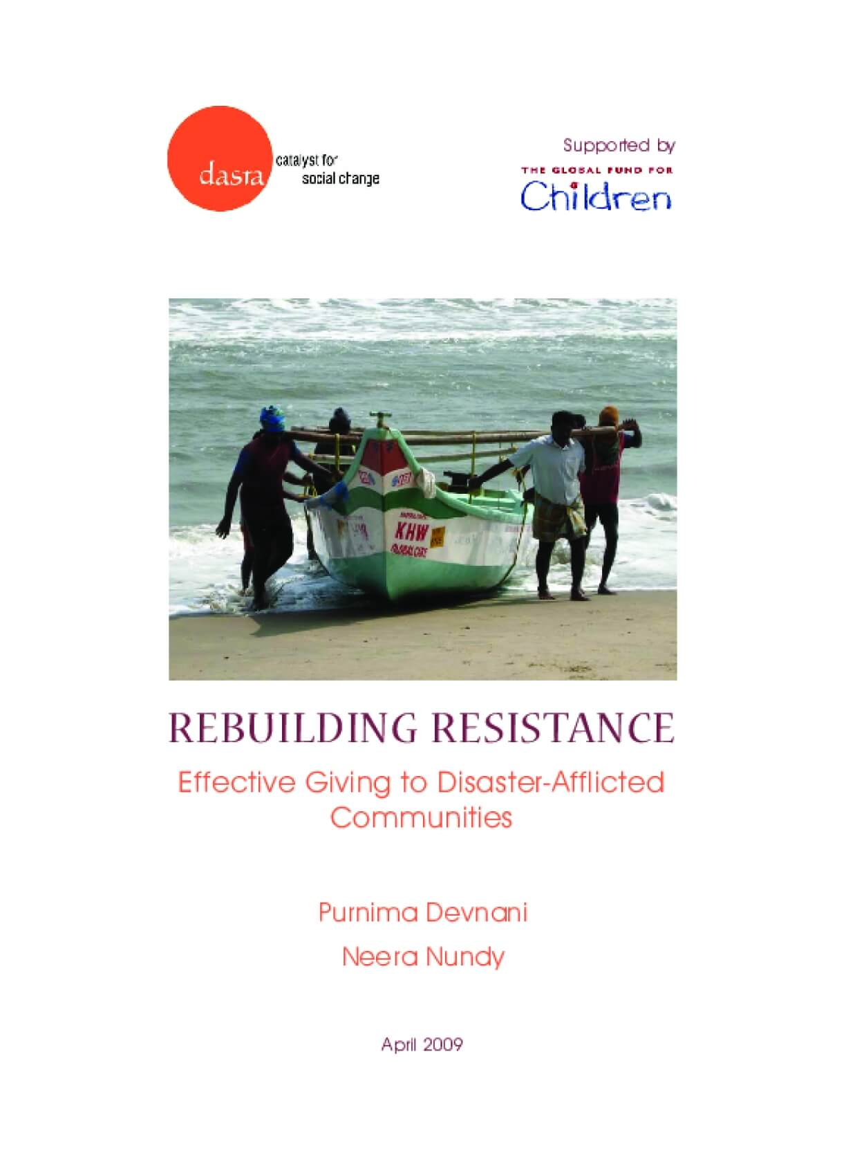 Rebuilding Resistance: Effective Giving to Disaster-Afflicted Communities