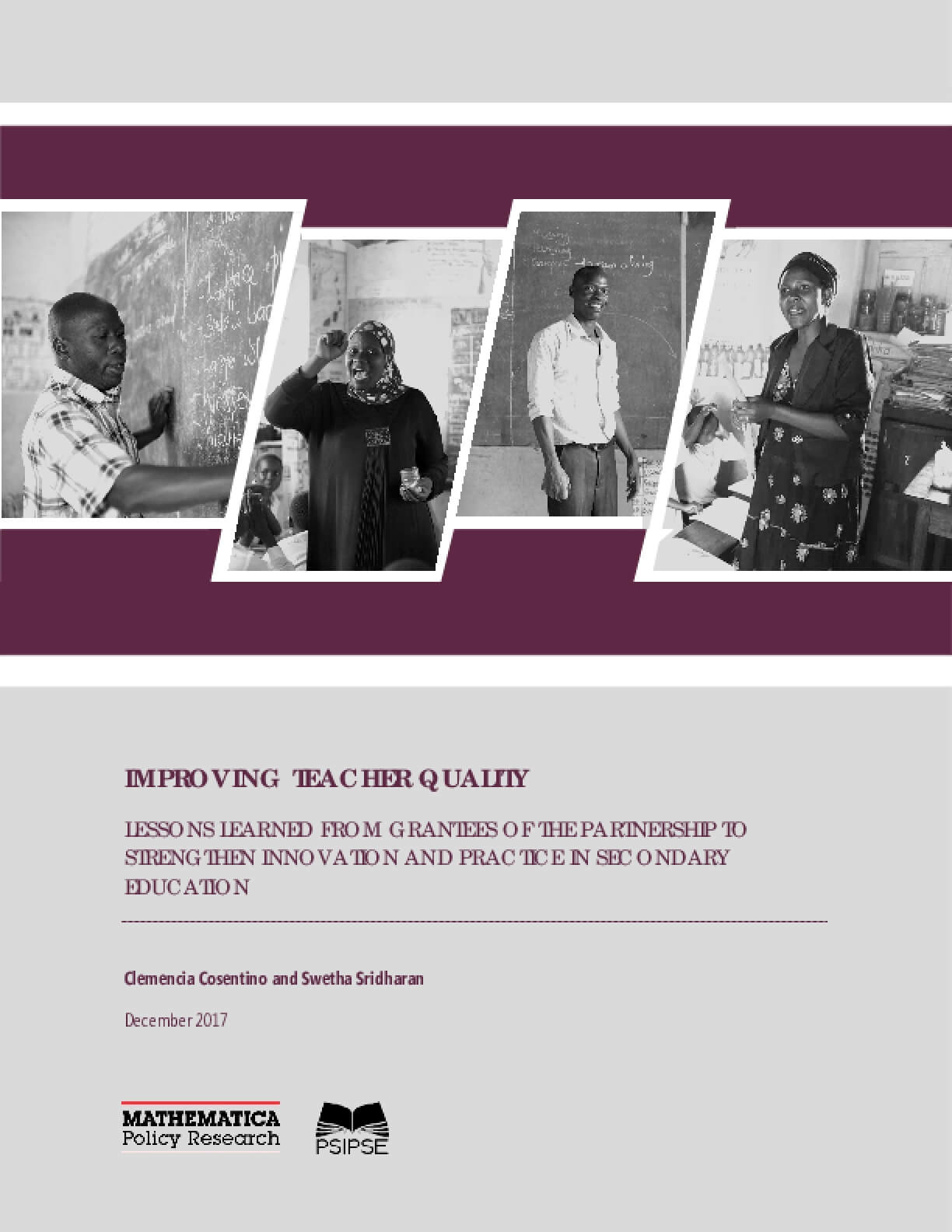 Improving Teacher Quality: Lessons Learned from Grantees of the Partnership to Strengthen Innovation and Practice in Secondary Education