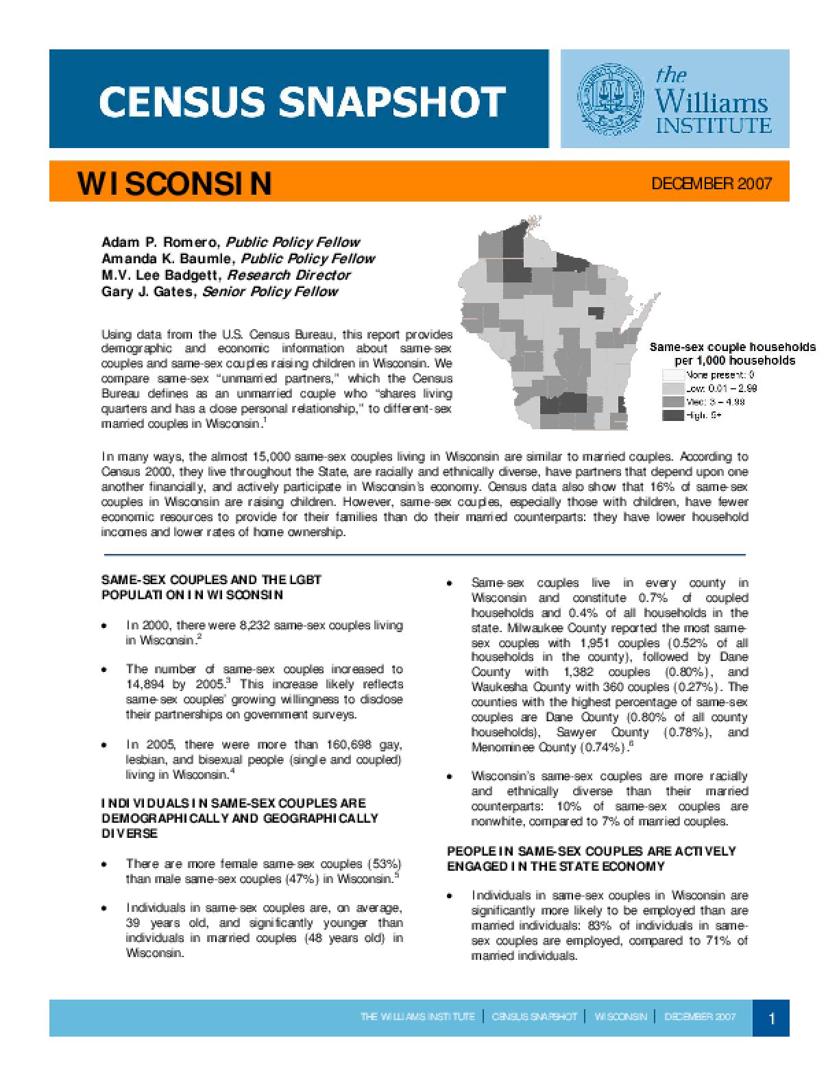 Census Snapshot: Wisconsin