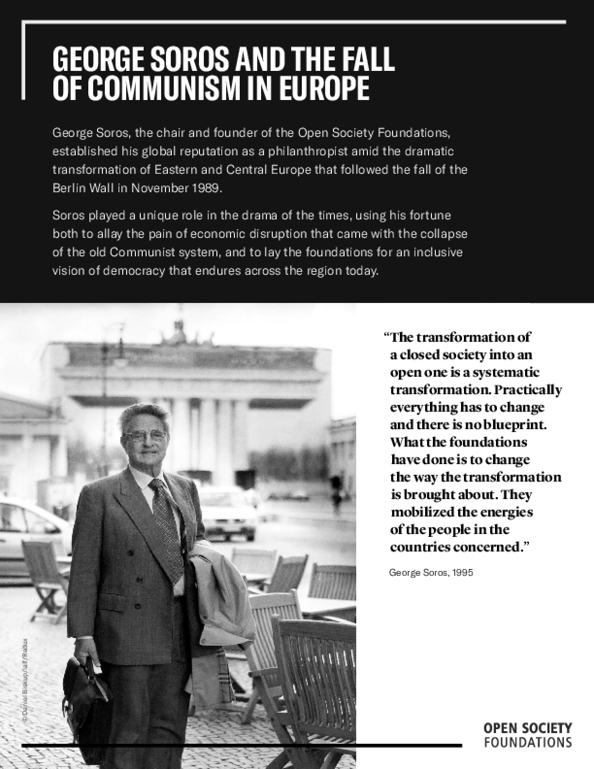 George Soros and the Fall of Communism in Europe