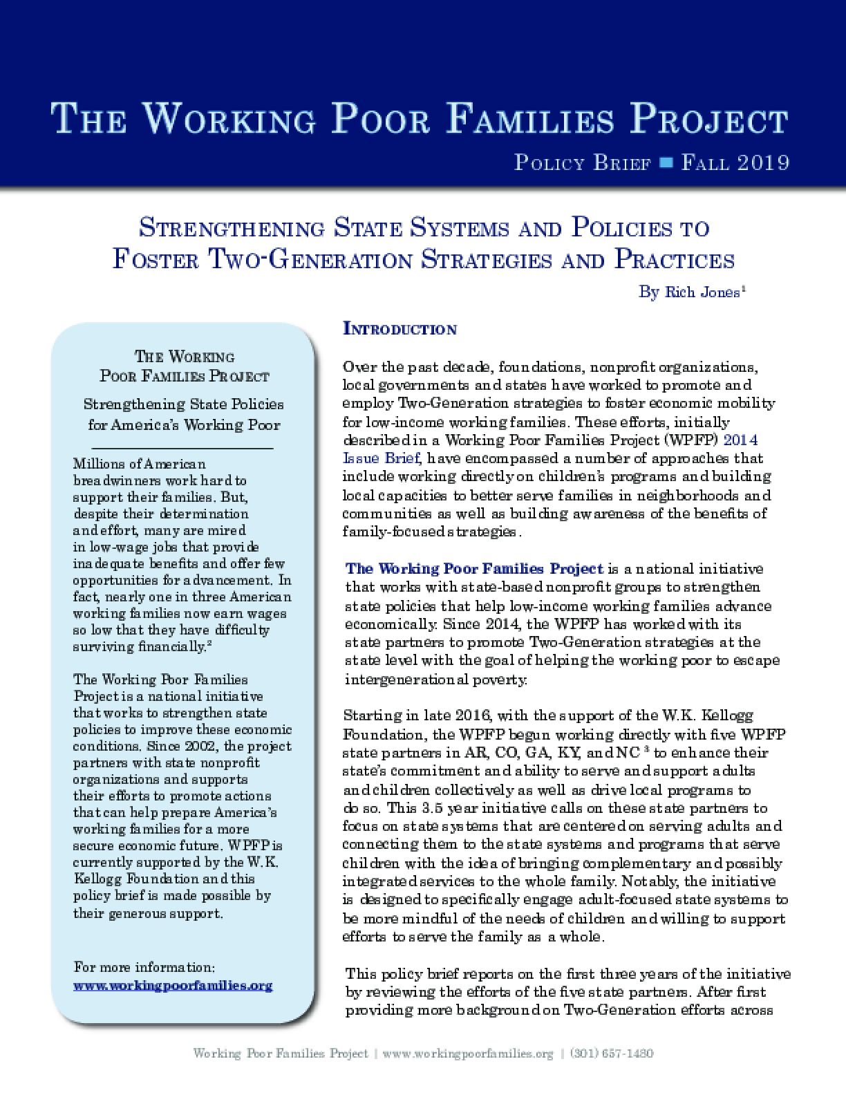 Strengthening State Systems and Policies to Foster Two-Generation Strategies and Practices