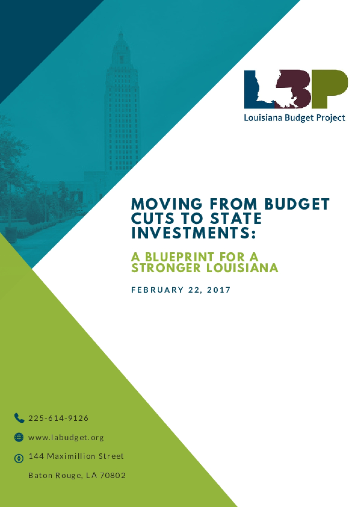 Moving From Budget Cuts to State Investments: A Blueprint for a Stronger Louisiana