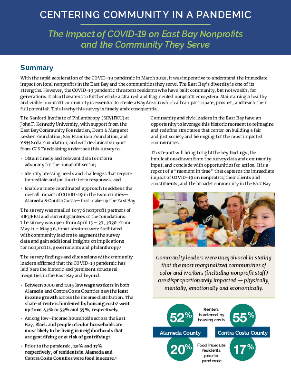 Centering Community in a Pandemic: The Impact of COVID-19 on East Bay Nonprofits and the Community They Serve