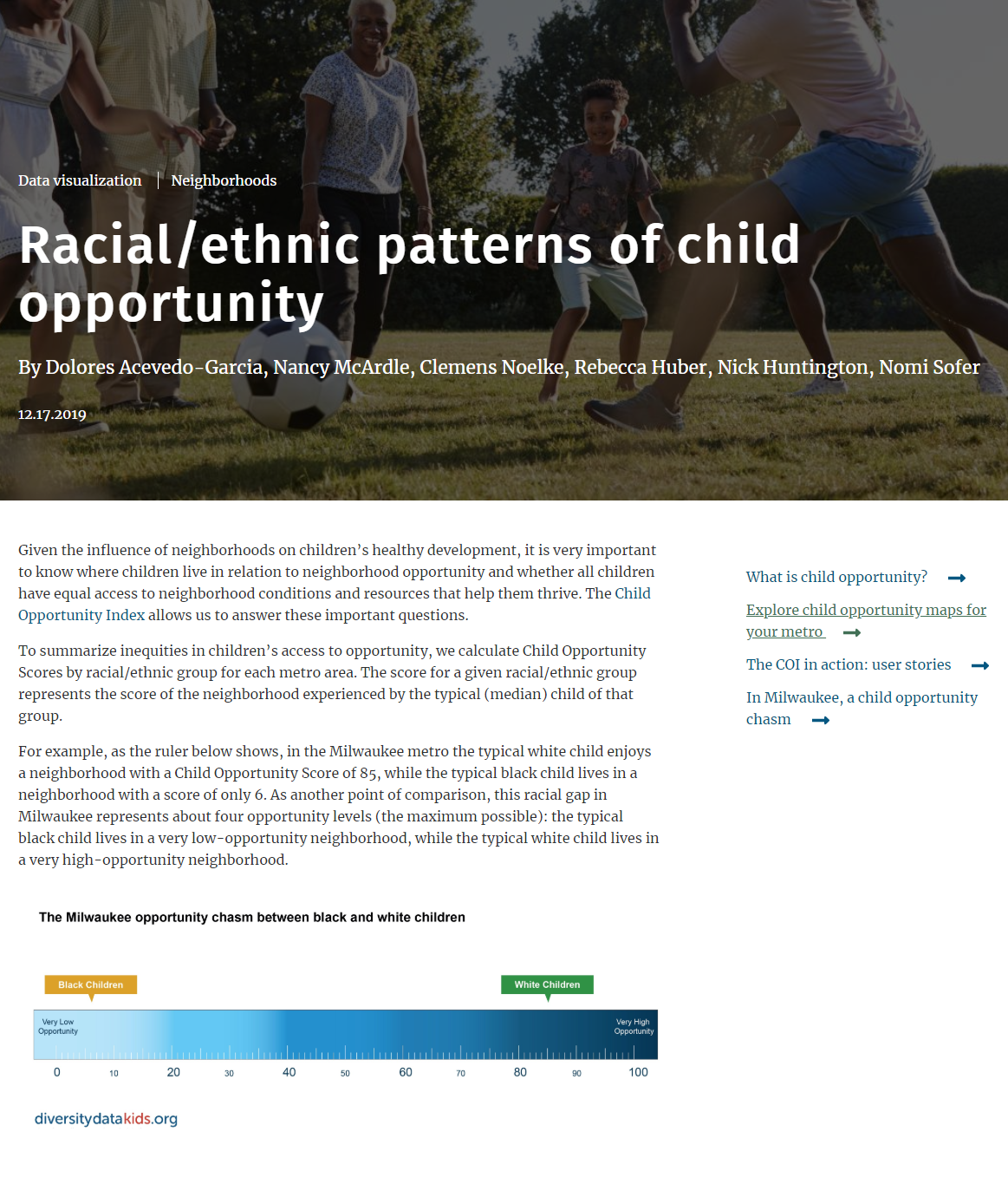 Racial/Ethnic Patterns of Child Opportunity