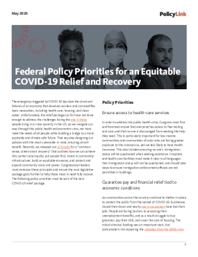 Federal Policy Priorities for an Equitable COVID-19 Relief and Recovery