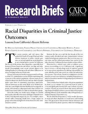 Racial Disparities in Criminal Justice Outcomes: Lessons from California's Recent Reforms