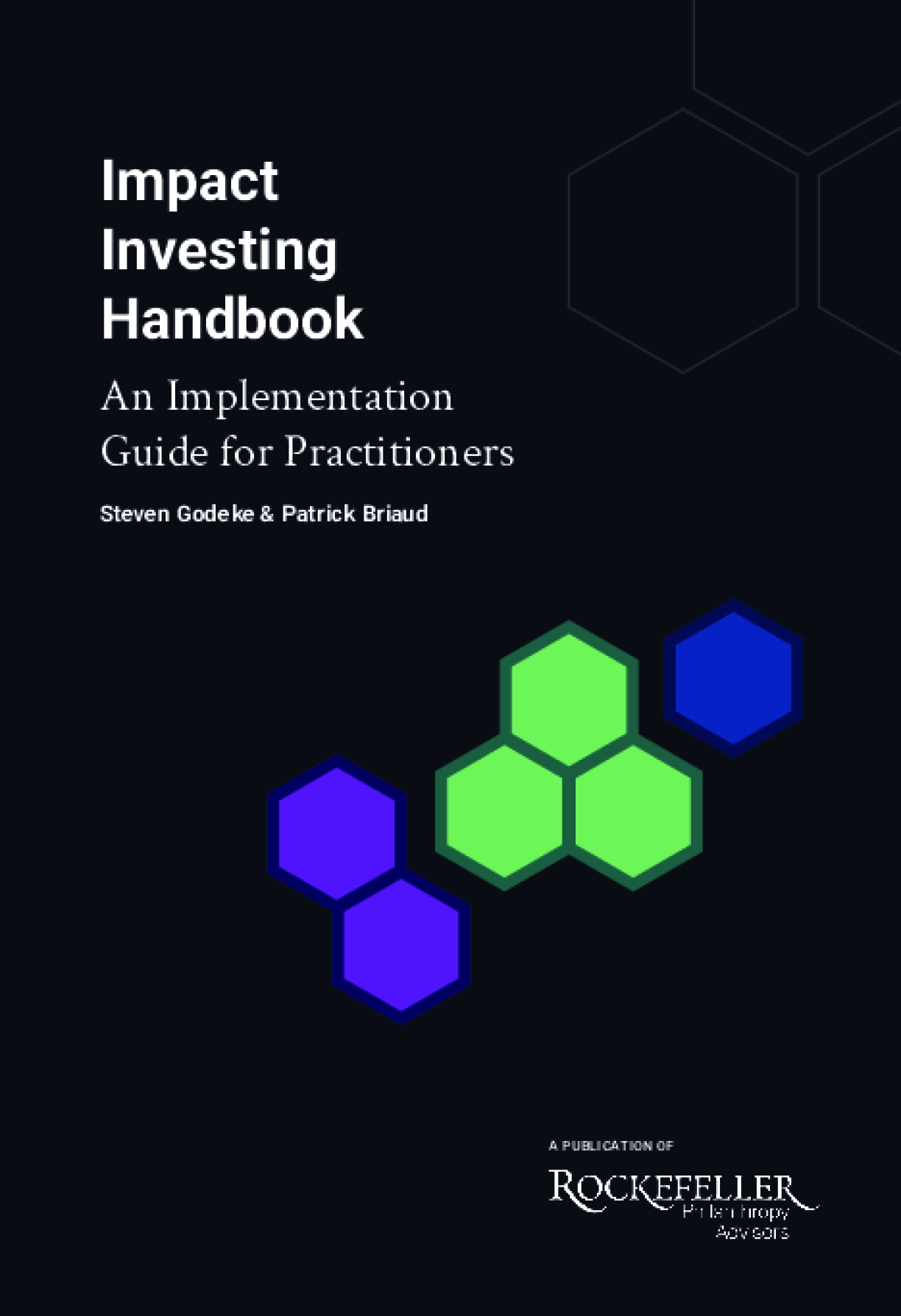 Impact Investing Handbook: An Implementation Guide for Practitioners
