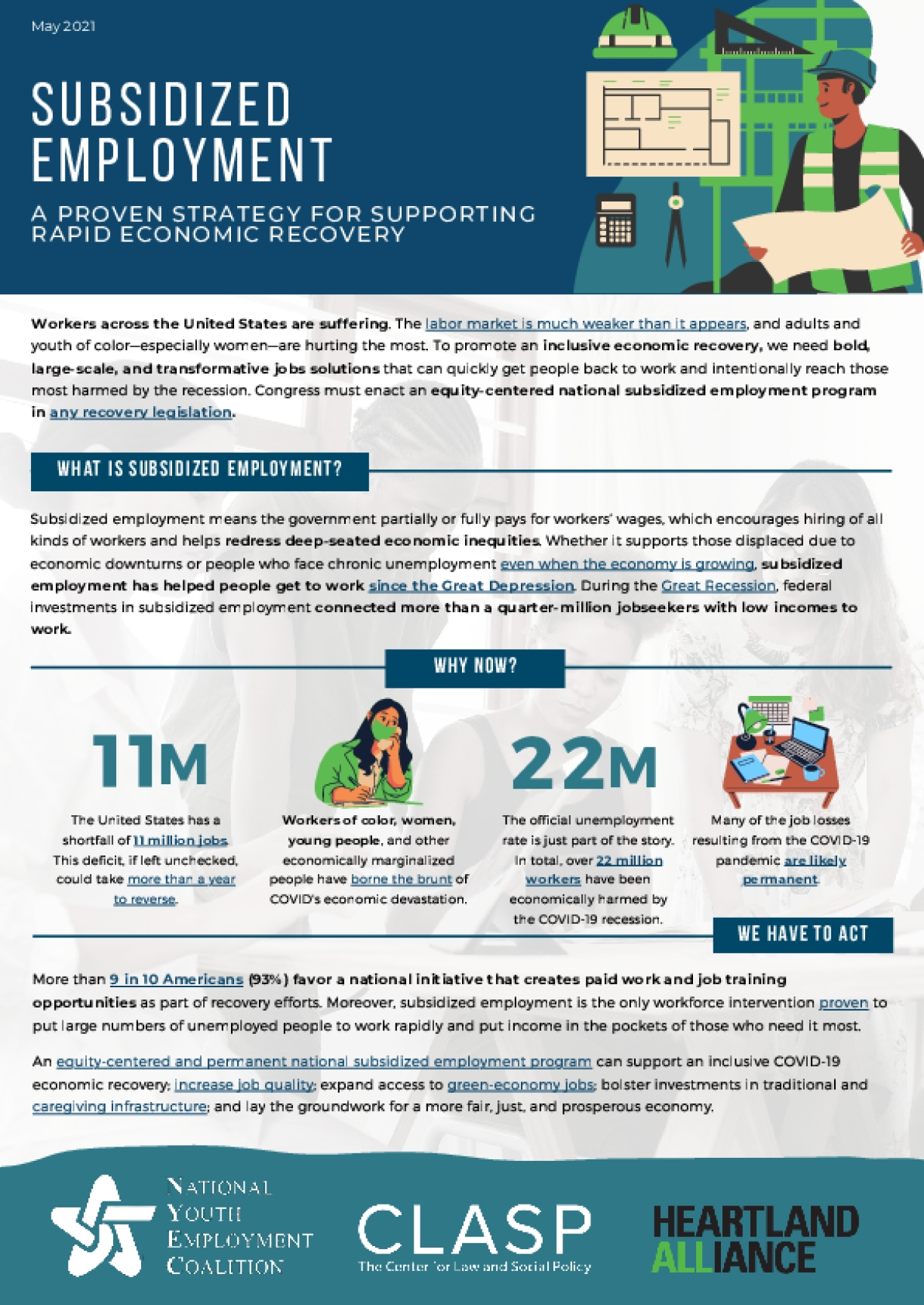 Subsidized Employment: A Proven Strategy for Supporting Rapid Economic Recovery