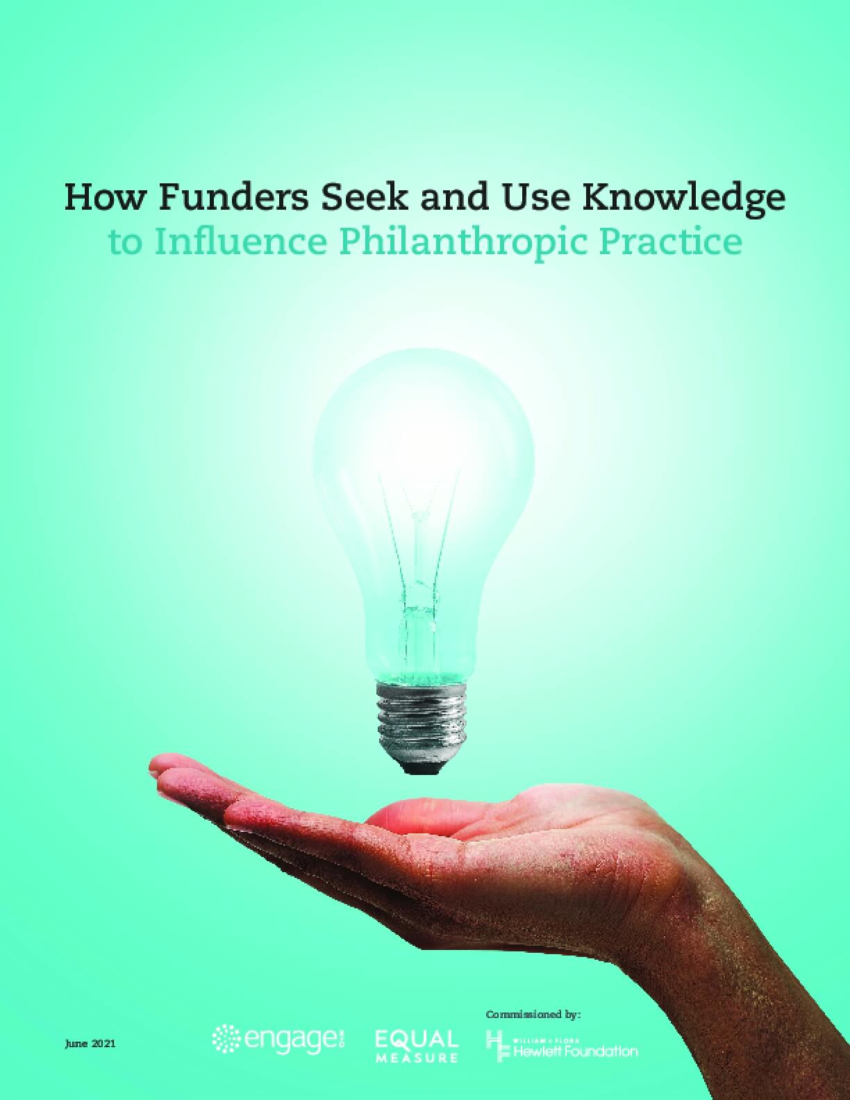 How Funders Seek and Use Knowledge to Influence Philanthropic Practice