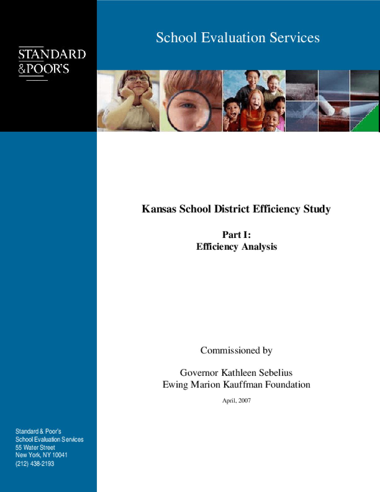 Kansas School District Efficiency Study Part I: Efficiency Analysis